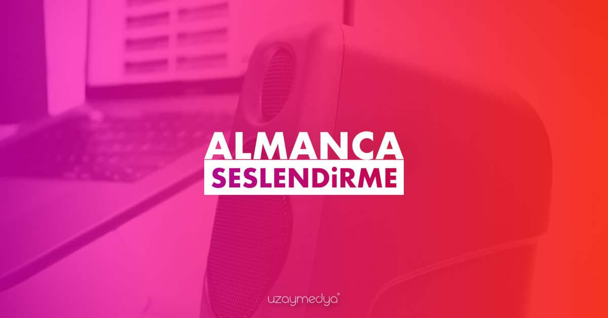 Photo of Almanca Seslendirme