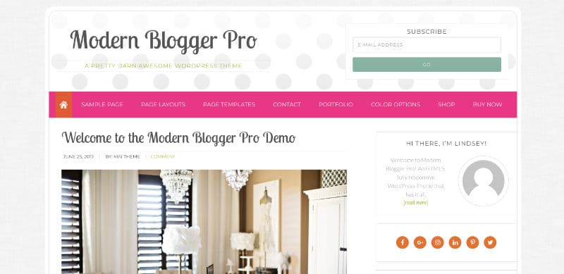 Modern Blogger Pro